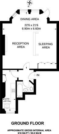 Large floorplan for Harrington Gardens, South Kensington, SW7