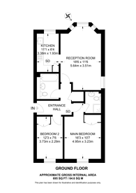 Large floorplan for Croxted Road, West Dulwich, SE21