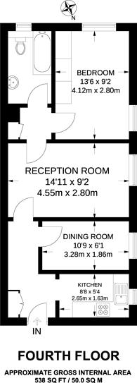 Large floorplan for Sherborne Court, Anerley, SE20