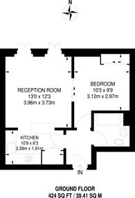 Large floorplan for Kensington Green, Kensington, W8