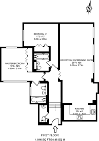 Large floorplan for Seymour Street, Marylebone, W1H