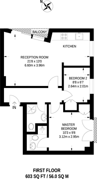 Large floorplan for Goodge Street, Marylebone, W1T