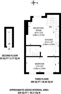 Large floorplan for Edgware Road, Little Venice, W2