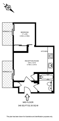 Large floorplan for Allsop Place, Marylebone, NW1