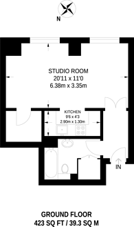 Large floorplan for Highgrove Point, Hampstead, NW3