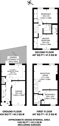 Large floorplan for Edensor Road, Corney Reach, W4