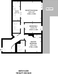 Large floorplan for Fountain House, Imperial Wharf, SW6