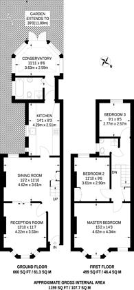 Large floorplan for Glynfield Road, Harlesden, NW10
