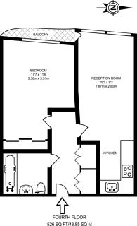 Large floorplan for Queensland Road, Highbury, N7
