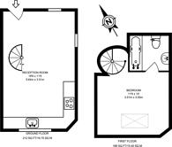Large floorplan for Salisbury Mews, Fulham, SW6