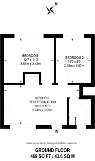 Large floorplan for Victoria Drive, Wimbledon Common, SW19