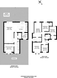 Large floorplan for Cedar Drive, Hatch End, HA5