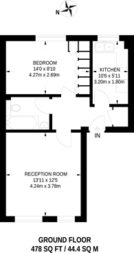 Large floorplan for Harlinger Street, Woolwich, SE18