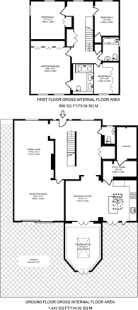 Large floorplan for Coombe House Chase, Coombe, KT3