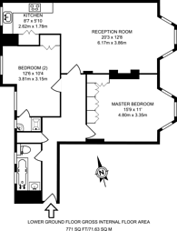 Large floorplan for Heath Drive, Hampstead, NW3