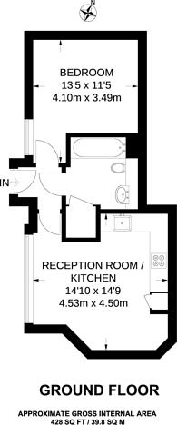 Large floorplan for Peckham Grove, Peckham, SE15