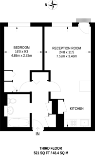 Large floorplan for Grosvenor Waterside, Chelsea, SW1W