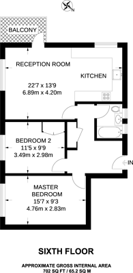 Large floorplan for Portland Street, Elephant and Castle, SE17