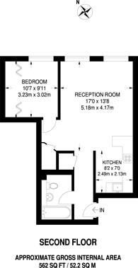 Large floorplan for Coral Row, Battersea, SW11