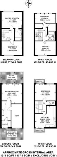Large floorplan for Oppidans Road, Primrose Hill, NW3