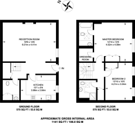 Large floorplan for Tarrant Place, Marylebone, W1H