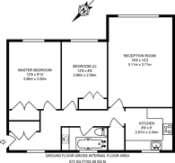 Large floorplan for Hawker Court, Kingston Hill, KT2