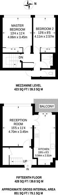 Large floorplan for Pinter house, Clapham North, SW9