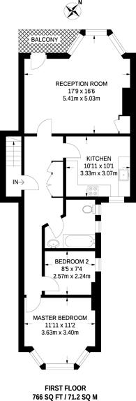 Large floorplan for Bulwer Road, New Barnet, EN5
