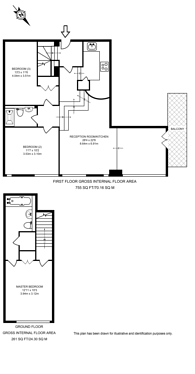 Large floorplan for Penfold Street, Marylebone, NW8