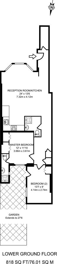 Large floorplan for Longridge Road, Earls Court, SW5