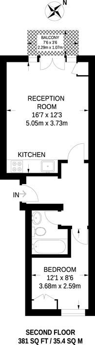 Large floorplan for Barchester Close, Hanwell, W7