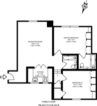 Large floorplan for Culford Gardens, Chelsea, SW3