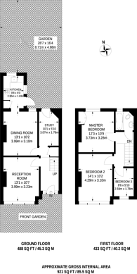 Large floorplan for Ashbourne Road, Tooting, CR4