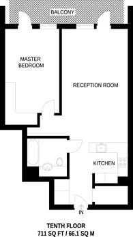 Large floorplan for Tapestry Building, King's Cross, N1C