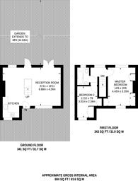 Large floorplan for Willifield Way, Hampstead Garden Suburb, NW11