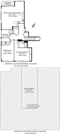Large floorplan for Oxygen Apartments, Royal Docks, E16