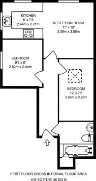 Large floorplan for Fallsbrook Road, Streatham, SW16