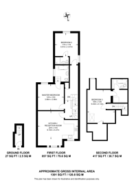 Large floorplan for Westbere Road, West Hampstead, NW2