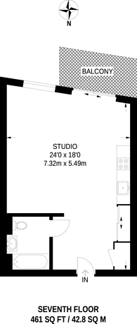Large floorplan for Commercial Road, Tower Hamlets, E1
