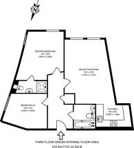 Large floorplan for Enfield Road, Islington, N1