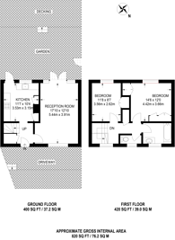 Large floorplan for Wellside Close, Barnet, EN5