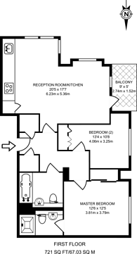 Large floorplan for Great West Quarter, Brentford, TW8