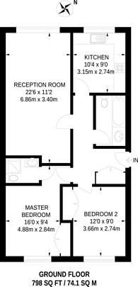 Large floorplan for Spert Street, Limehouse, E14
