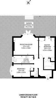 Large floorplan for Portinscale Road, Putney, SW15