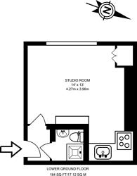 Large floorplan for Claverton Street, Pimlico, SW1V