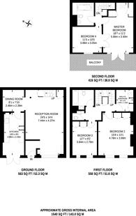 Large floorplan for Reece Mews, South Kensington, SW7