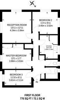 Large floorplan for Saxby Road, Brixton, SW2