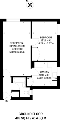 Large floorplan for Churchill Place, Harrow, HA1