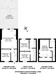 Large floorplan for Durnsford Road, Wimbledon, SW19