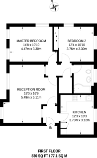 Large floorplan for Parkside, Blackheath, Blackheath, SE3